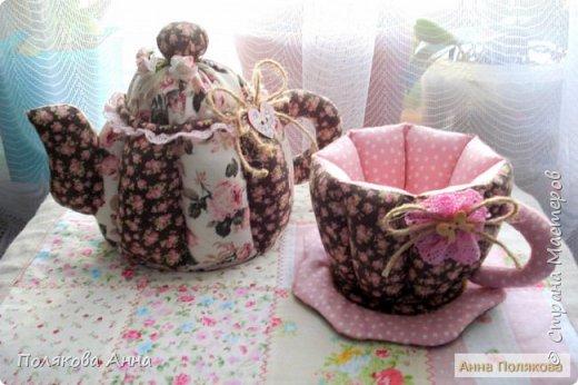 Уютный текстильный чайник станет замечательным подарком, послужит шкатулочкой для чайных пакетов, конфеток, бижутерии или других мелочей, а также может быть необычной упаковкой для небольшого подарка. Высота 15см. фото 4