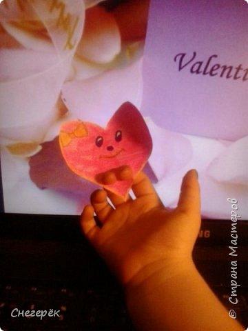 Привет, с вами Снегерёк. В этом МК я буду показывать как сделать легкую валентинку на 14 февраля. Не судите строго. фото 10