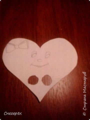 Привет, с вами Снегерёк. В этом МК я буду показывать как сделать легкую валентинку на 14 февраля. Не судите строго. фото 8
