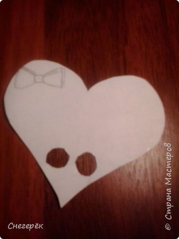 Привет, с вами Снегерёк. В этом МК я буду показывать как сделать легкую валентинку на 14 февраля. Не судите строго. фото 7