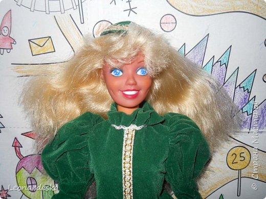 """На НГ Дед Мороз принес Ксю барби, и  неожиданно проявился интерес к кукольным нарядам) пришлось маме доставать старые журналы """"Лола""""и садиться за машинку.  Поскольку за последнее десятилетие фигурка знаменитой куклы притерпела значительные изменения первый вариант пробный из """"нежалкой"""" ткани фото 6"""