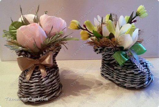 Сделала весенние ботиночки с розами и подснежниками фото 1