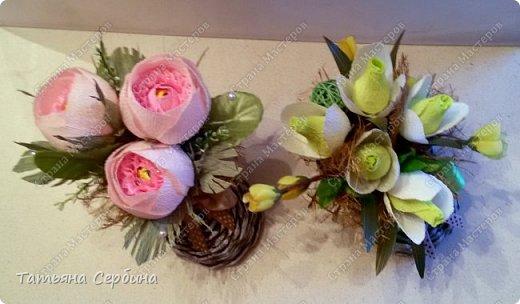 Сделала весенние ботиночки с розами и подснежниками фото 4