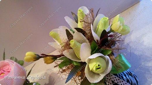 Сделала весенние ботиночки с розами и подснежниками фото 3