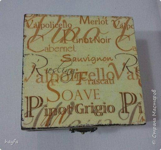 Коробочка выполнена в стиле декупаж.  фото 1