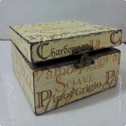 Коробочка выполнена в стиле декупаж.  фото 2