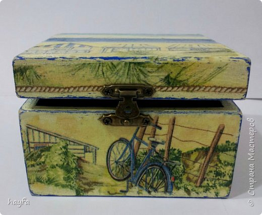 Коробочка выполнена в стиле декупаж.  фото 7