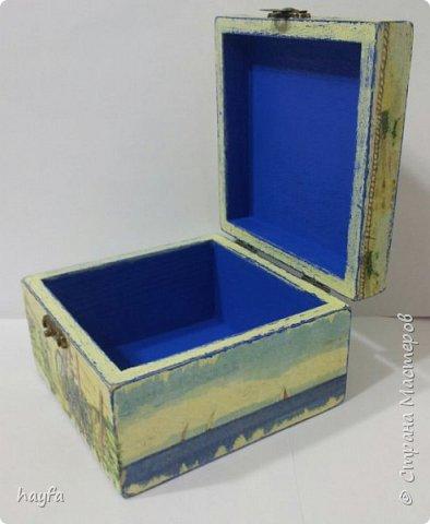Коробочка выполнена в стиле декупаж.  фото 6