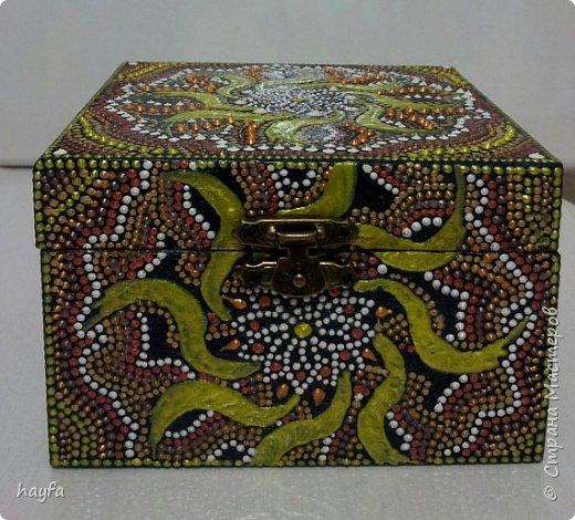 Коробочка выполнена в стиле декупаж.  фото 4