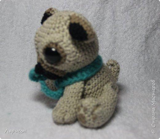 Мопсёныш - это дитёныш мопса. Такую интересную игрушку связала моя старшая дочка в 16 лет в прошлом году для своей подруги на день рождения.  фото 1
