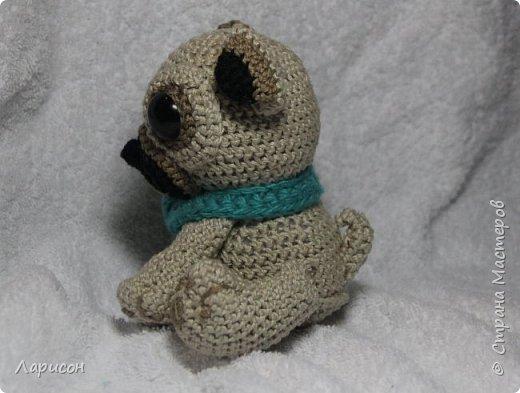 Мопсёныш - это дитёныш мопса. Такую интересную игрушку связала моя старшая дочка в 16 лет в прошлом году для своей подруги на день рождения.  фото 3