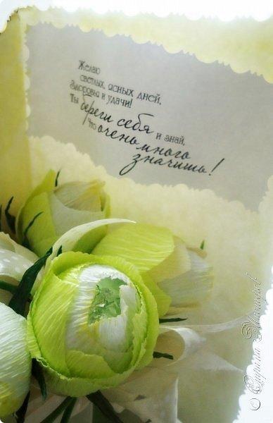 """Представляю Вам работы, присланные во 2-ю тему """"Поздравительная открытка"""" Объявление игры здесь http://stranamasterov.ru/node/994968  Работа №1. «Зайка»  Три подарка в одном ко Дню Святого Валентина:  1. Открытка с приятностями: Вот только несколько причин, почему я люблю тебя: ©      Потому, что Ты единственная и неповторимая ©      Потому, что Ты счастлива со мной ©      Потому, что Ты понимаешь меня ©      Потому, что Ты воплощение женственности ©      Потому, что Ты думаешь обо мне и веришь в меня ©      Потому, что Тебе нравится, когда я ношу Тебя на руках ©      Потому, что Ты даешь мне возможность почувствовать себя мужчиной ©      Потому что Тебе нравится лежать у меня на плече в кинотеатре. ©      Потому, что у меня начинает быстрее биться сердце, когда я вижу Тебя ©      Потому, что мне нравится спорить с Тобой на поцелуй ©      Потому, что Тебе нравится приятно удивлять меня ©      Потому, что мне нравится преподносить Тебе сюрпризы ©      Потому, что я улыбаюсь, когда жду Тебя ©      Потому, что Ты обнимаешь меня взглядом Просто потому, что Ты - Моя любимая Зайка! 2. Конфеты. 3. Игрушка. День Святого Валентина - это день, когда каждая девушка ждет особенного признания в любви...   Моя зайка любимая, Солнышко мое ясное, Люблю твои ресницы длинные, И глаза прекрасные, Губки твои нежные, Волосы шикарные, Ласки бесконечные, И любовь бескрайнюю! Мой небесный ангелок, Ты же мое счастье, Без тебя бы я не смог, Я весь в твоей власти! стихотворение отсюда ©http://pozdravkin.com/priznanija-ona-4   Материалы: картон, клей ПВА, ткань подкладочная, гипюр, двухсторонний скотч, бумага упаковочная, пух, клей горячий, наклейки - сердечки, штампики, распечатки, палочка для воздушного шарика, лента атласная, полубусина, пленка пищевая, мягкая игрушка – зайчик. Игрушка при изготовлении открытки не пострадала, прикрепляется к основе с помощью лент, легко открепляется от открытки. Состав конфет: Конфеты шоколадные с ореховым кремом в форме сердечка BiG BoX – 8 шт., шоколадный"""