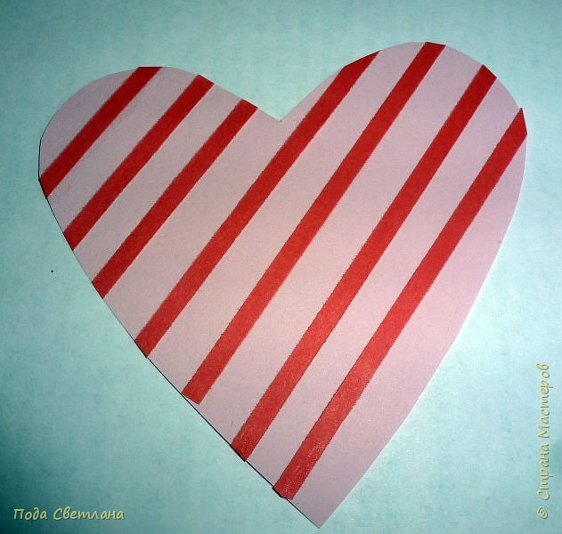 """Здравствуйте! Ко Дню влюблённых придумалась открыточка....хочу представить Вашему вниманию! Соединить два сердца влюблённых """"он"""" и """"она""""... """"они"""" рядом и """"они"""" одно...сердце и сердца влюблённых продолжение друг в друге... Надеюсь у меня получилось это передать... фото 11"""