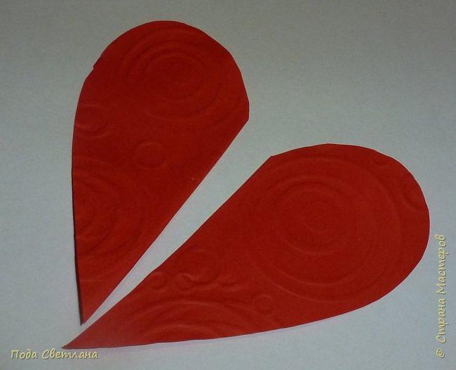 """Здравствуйте! Ко Дню влюблённых придумалась открыточка....хочу представить Вашему вниманию! Соединить два сердца влюблённых """"он"""" и """"она""""... """"они"""" рядом и """"они"""" одно...сердце и сердца влюблённых продолжение друг в друге... Надеюсь у меня получилось это передать... фото 8"""