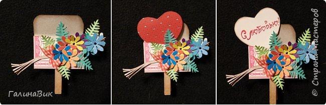 Эта валентинка-сердечко сделана из бумаги, сложенной в гармошку, приклеена к шпажке и вставлена в пробку.  фото 10
