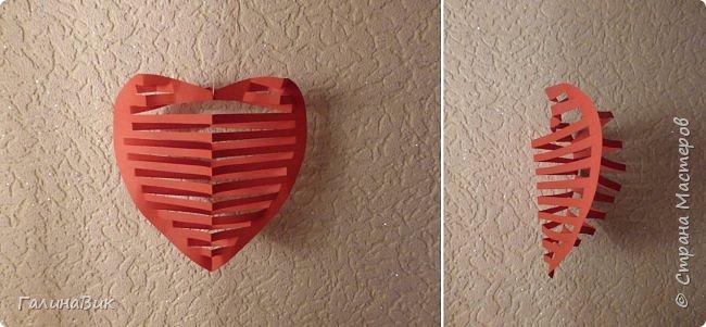 Эта валентинка-сердечко сделана из бумаги, сложенной в гармошку, приклеена к шпажке и вставлена в пробку.  фото 3