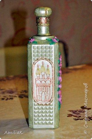 Подарок на день матери бутылка декорированная фото 2