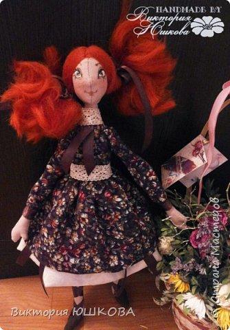 """Так получилось, что у меня """"родилось"""" несколько кукол в разных стилях объединенных одной цветовой гаммой и запахом корицы, так как ткань для их тела я красила раствором кофе и корицы, поэтому я собрала их в одну коллекцию и назвала ее КОРИЦА фото 1"""