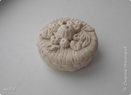 Шкатулки(баночка из-под крема),панно-основа гипс,материал сол.тесто. фото 3