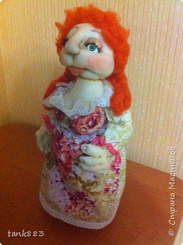Вот такая девочка Лизонька-лисичка получилась----И я попробовала сделать куклу-бар фото 1