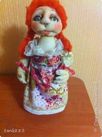 Вот такая девочка Лизонька-лисичка получилась----И я попробовала сделать куклу-бар фото 2
