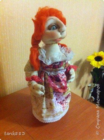 Вот такая девочка Лизонька-лисичка получилась----И я попробовала сделать куклу-бар фото 3