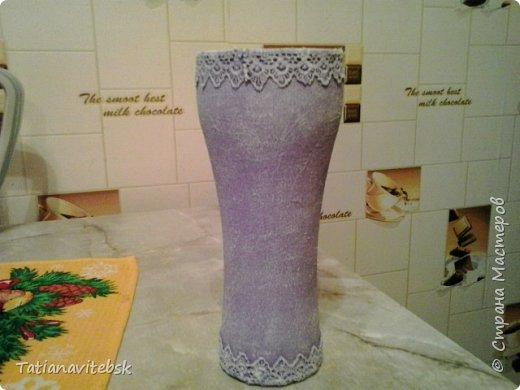 Вдохновилась вазочками мастериц сайта, посмотрела на свои шарики в такой же технике и сделала вазочку свою. фото 4