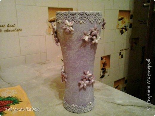 Вдохновилась вазочками мастериц сайта, посмотрела на свои шарики в такой же технике и сделала вазочку свою. фото 1
