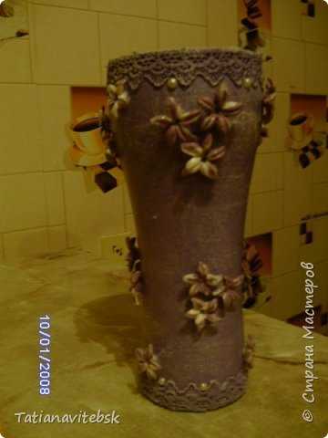 Вдохновилась вазочками мастериц сайта, посмотрела на свои шарики в такой же технике и сделала вазочку свою. фото 6