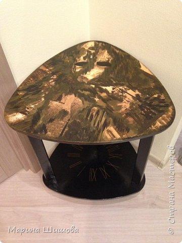 Был у меня старый столик, долго думала, что с ним сделать, как задекорировать и вот получилось очедное творение.  фото 5