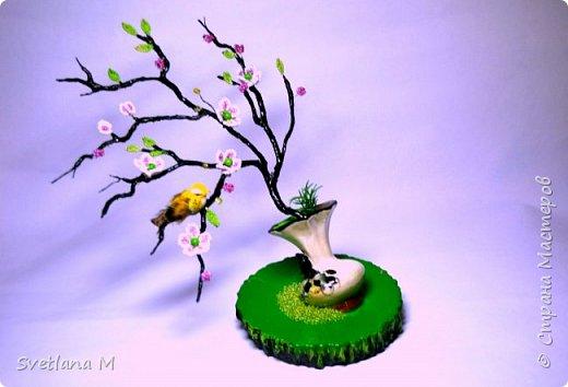 """Сделала ветку на Санате по МК Наты, куратор Natali1515  """"Сакура в цвету"""" С/овсем недавно ветви голы были.. А только солнце вышло из-за гор, Как снегом розовым сады покрылись, Убранством ярким покоряя взор. Рисует на холсте художник чудо, Атласным бархатом чаруя взгляд. Весны очарование повсюду- Цветы Эдема-сакуры наряд. В тех дивной красоты цветах, Есть волшебство и притяженье взгляда. Туда манит чудесных райских птах,                       Услада и покой чарующего сада фото 1"""