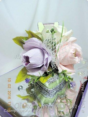 Доброго времени суток всем!  Делала подарки ко Дню Рождения сестры и тёти. Туфелька для сестры, а букетик для тёти). фото 3
