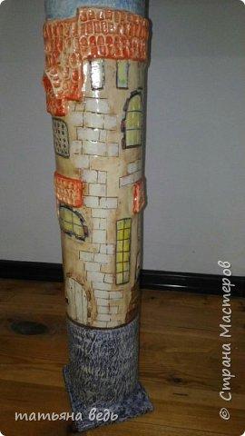 вазы на тему тех же картин, попробовала очень понравилось.   Материал картонные диски от линолеума(в магазинах остается), шпаклевкаБ гуашь, лак фото 5