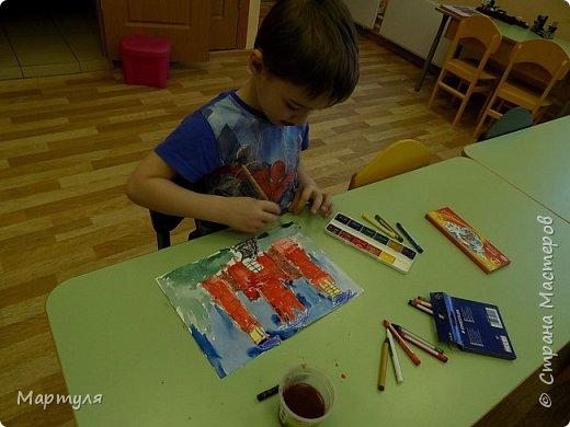 Рисовали замок с детьми. Это образец. фото 3