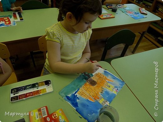 Рисовали замок с детьми. Это образец. фото 6