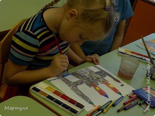 Рисовали замок с детьми. Это образец. фото 7