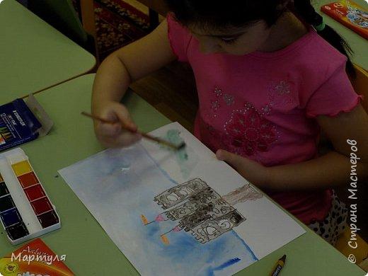 Рисовали замок с детьми. Это образец. фото 8
