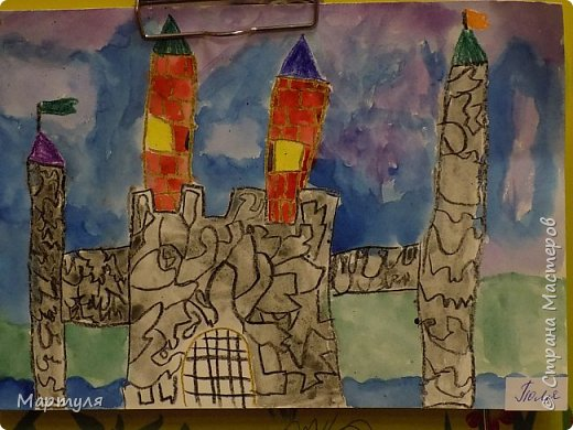 Рисовали замок с детьми. Это образец. фото 12