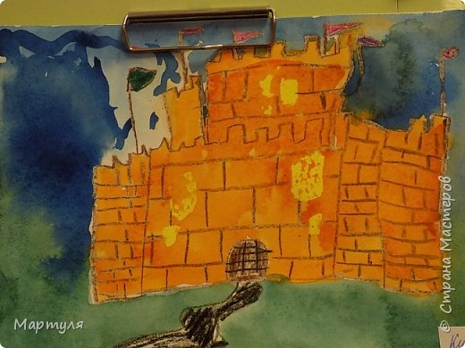 Рисовали замок с детьми. Это образец. фото 13