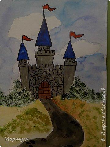 Рисовали замок с детьми. Это образец. фото 2