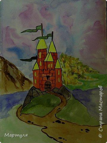 Рисовали замок с детьми. Это образец. фото 1