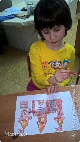 Рисовали замок с детьми. Это образец. фото 17