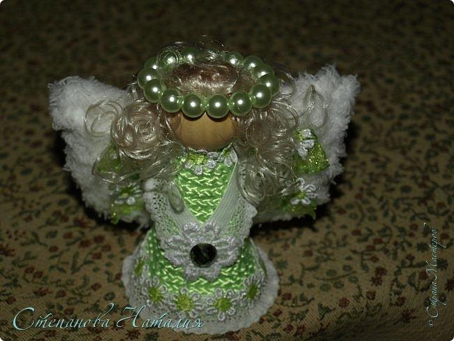 """Доброе утро))) Приступаю к изготовлению своих авторских ангелов, буду делать таких на продажу, подарки и на заказ. Идея, как всегда, мне приснилась. Этого ангела назвала """"Вечная весна"""" сделан на подарок. Приглашаю посмотреть во всей красе! фото 5"""