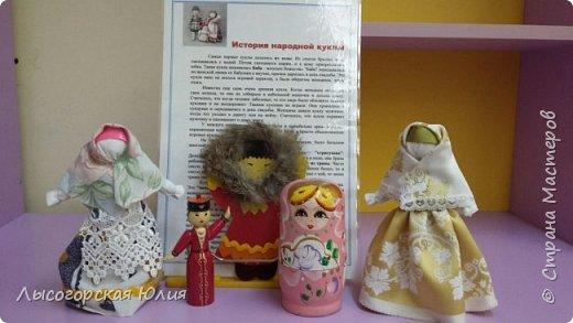 """Всем здравствуйте! Представляю вашему вниманию своих """"простушек"""", в смысле исполнения. Я уже говорила, что в группе моего старшего сыночка предложили собирать народных куколок, свою аппликационную чукчанку я уже принесла, но когда увидела кукол Любови Шаровой  http://stranamasterov.ru/node/998567#comment-13624101  , то так  ими вдохновилась и буквально за час смастерила  еще и эту парочку. фото 5"""