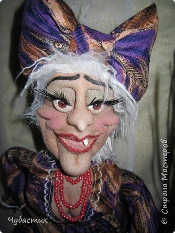 Доброго Всем времечка!!!!! Приготовьтесь буду пугать. Я наконец то сделала страшнючую бабку ёжку не зная почему но так хотелось такую морщинистую с зубом (одним) вроде получилось судить вам, лиц легко пугающихся предупреждаю будет СТРАШНО : фото 2
