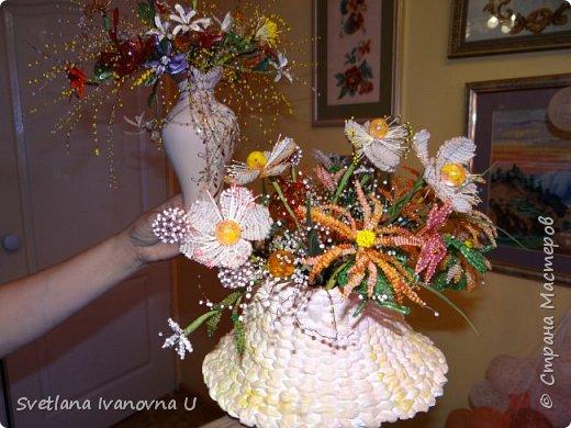 букет из хризантем, сделан из бумажных  салфеток фото 5