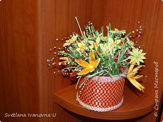 букет из хризантем, сделан из бумажных  салфеток фото 6