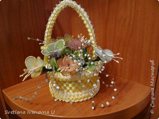 букет из хризантем, сделан из бумажных  салфеток фото 10