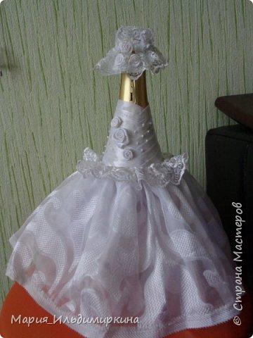 Украшение свадебных бутылок фото 2