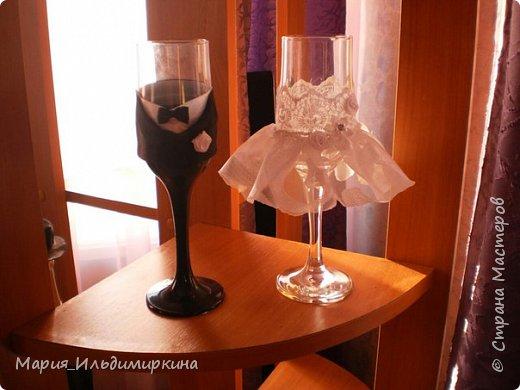 Украшение свадебных бутылок фото 3
